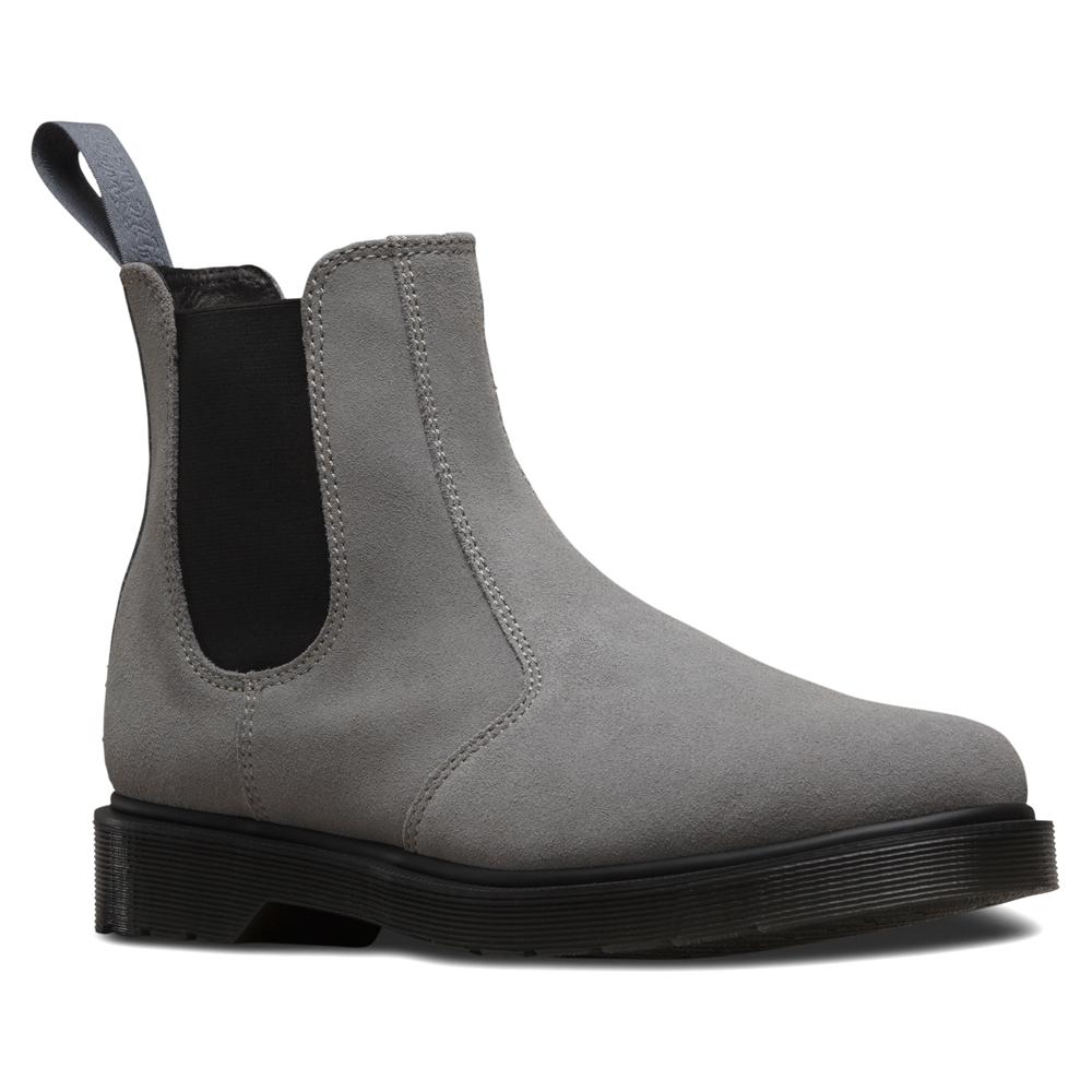 Dr Marten Grey Hair Suede Shoes