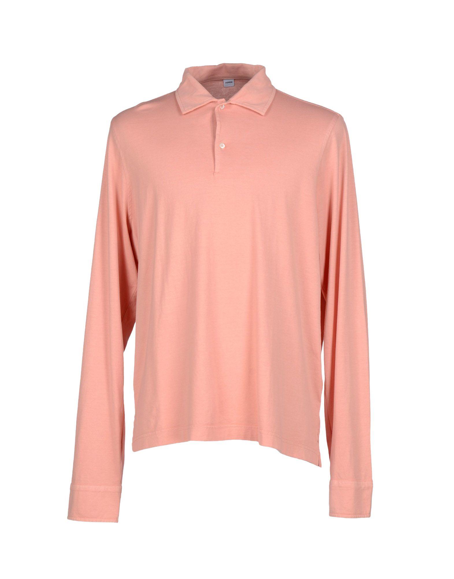 Lyst Aspesi Polo Shirt In Pink For Men