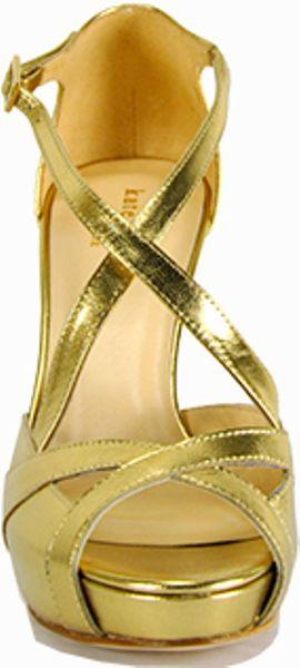 Kate Spade Get Platform Strappy Sandal In Gold Lyst