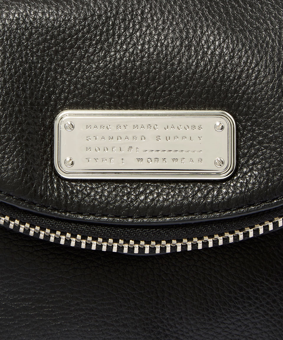 Marc By Marc Jacobs Black New Q Zippers Mini Natasha Crossbody Bag