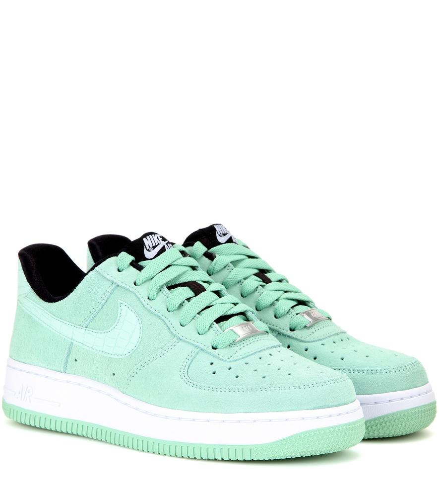 nike air force 1 39 07 seasonal suede sneakers in green lyst. Black Bedroom Furniture Sets. Home Design Ideas