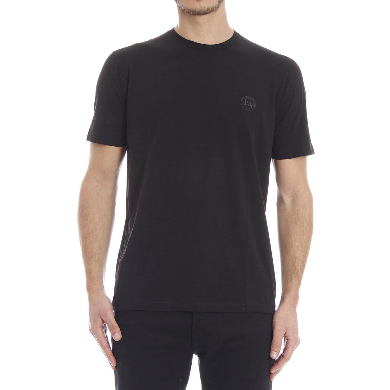 Emporio Armani T Shirt Short Sleeve Crewneck Logo In Black