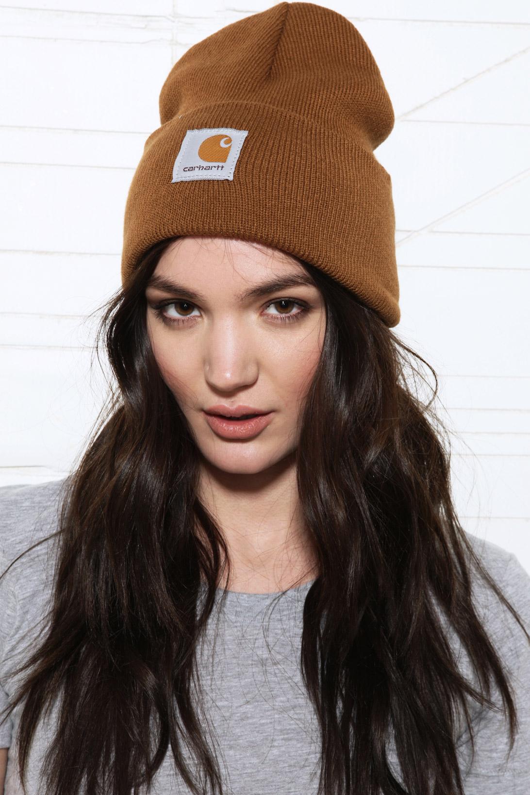 c2f9ebba4df1a Carhartt Watch Beanie Hat in Brown in Brown - Lyst women s carhartt beanie