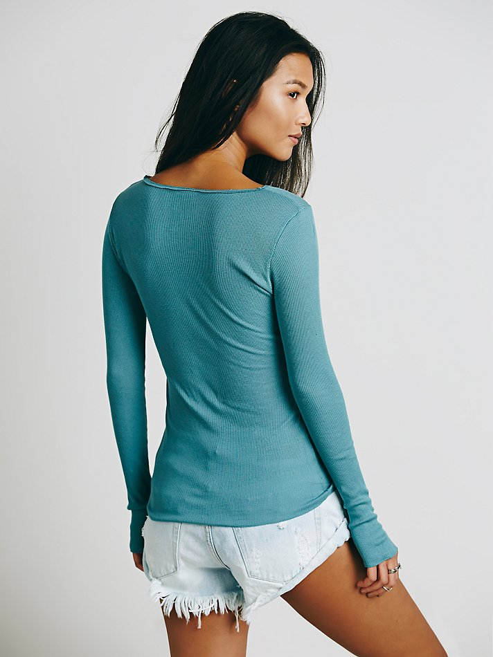 Free People Cotton Sweet Dream Layering Top in Green