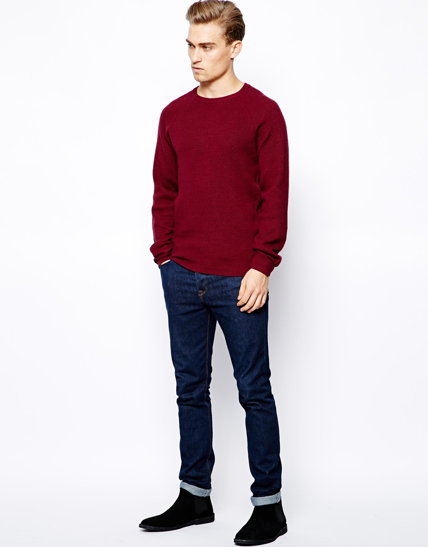 Ben sherman Sweater with Crew Neck in Red for Men | Lyst