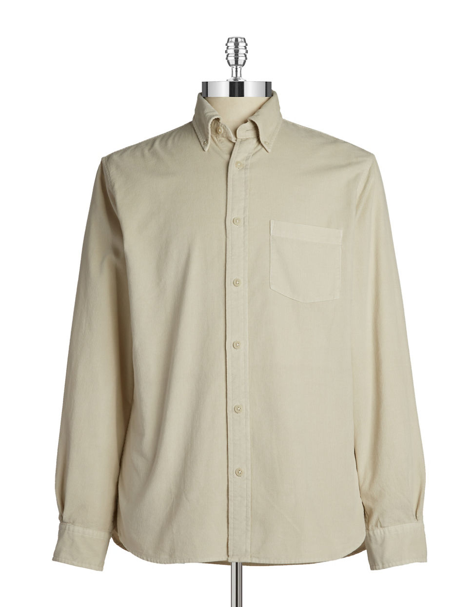 Brooks Brothers Red Fleece Corduroy Sportshirts In Natural