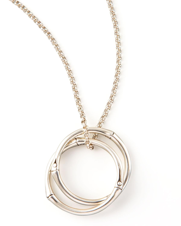 Lyst John Hardy Bamboo Link Pendant Necklace In Metallic