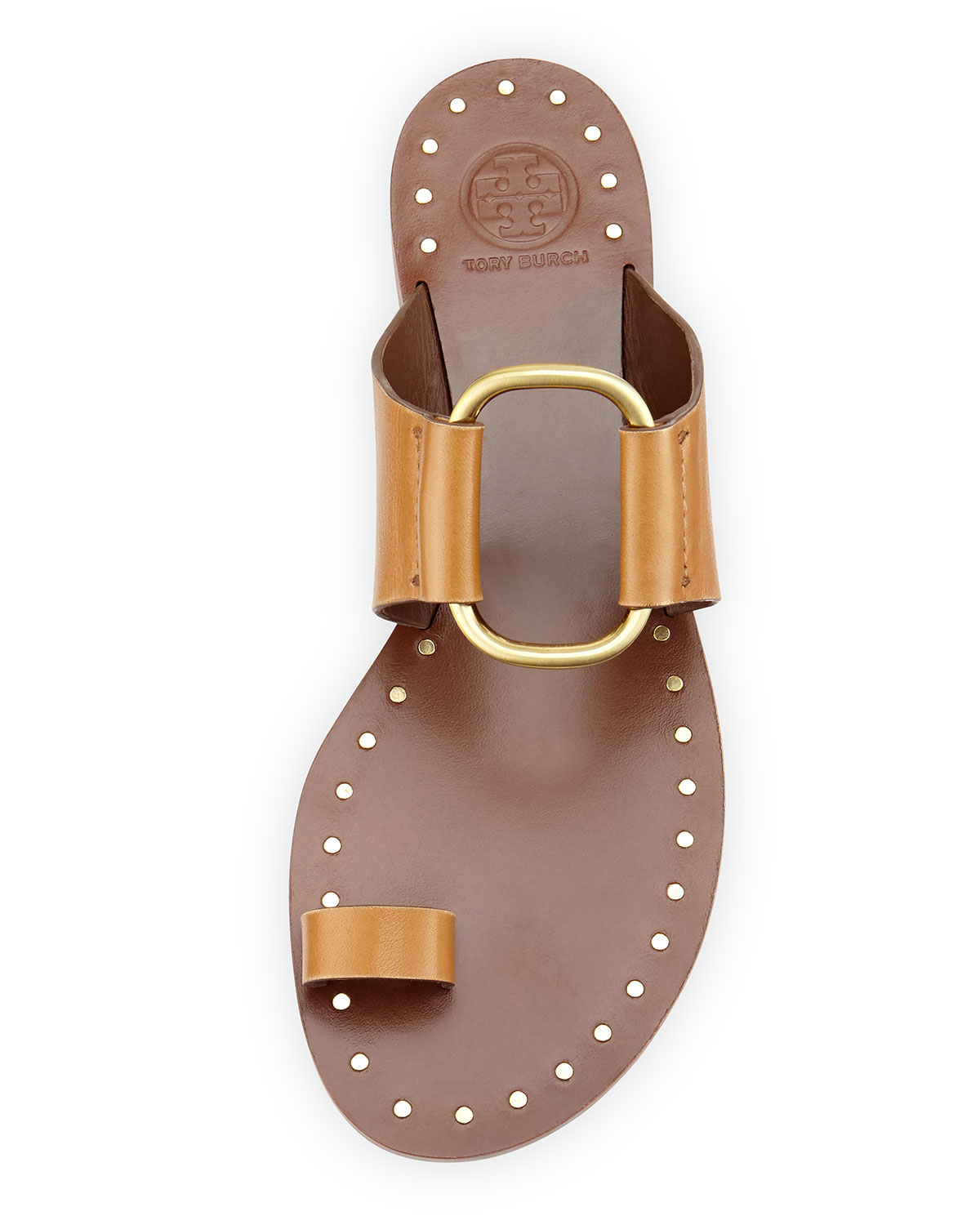 7abe4cb4d900 Lyst - Tory Burch Brannan Leather Sandals in Natural