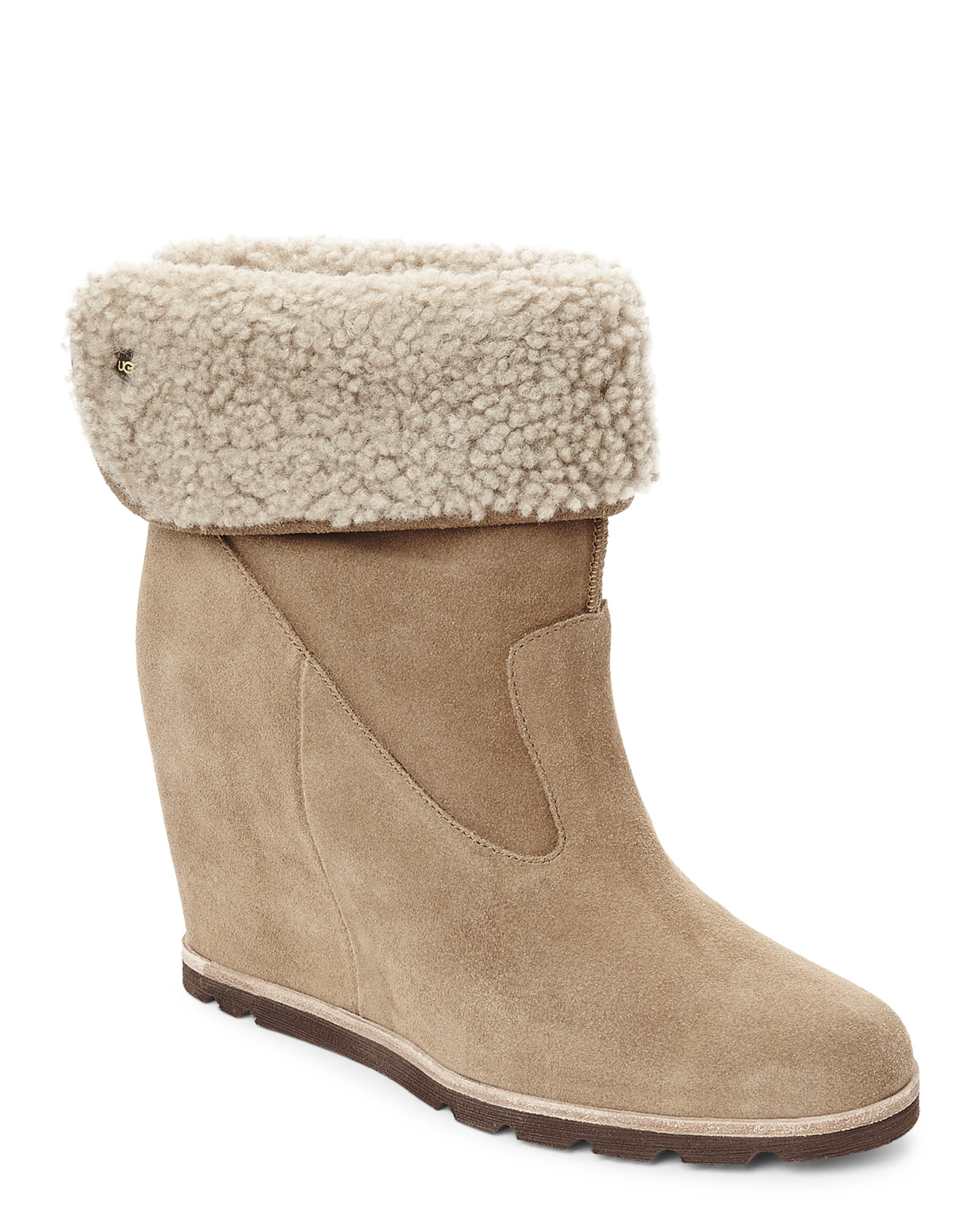 d9095c0c1f8 UGG Natural Chestnut Kyra Wedge Boots