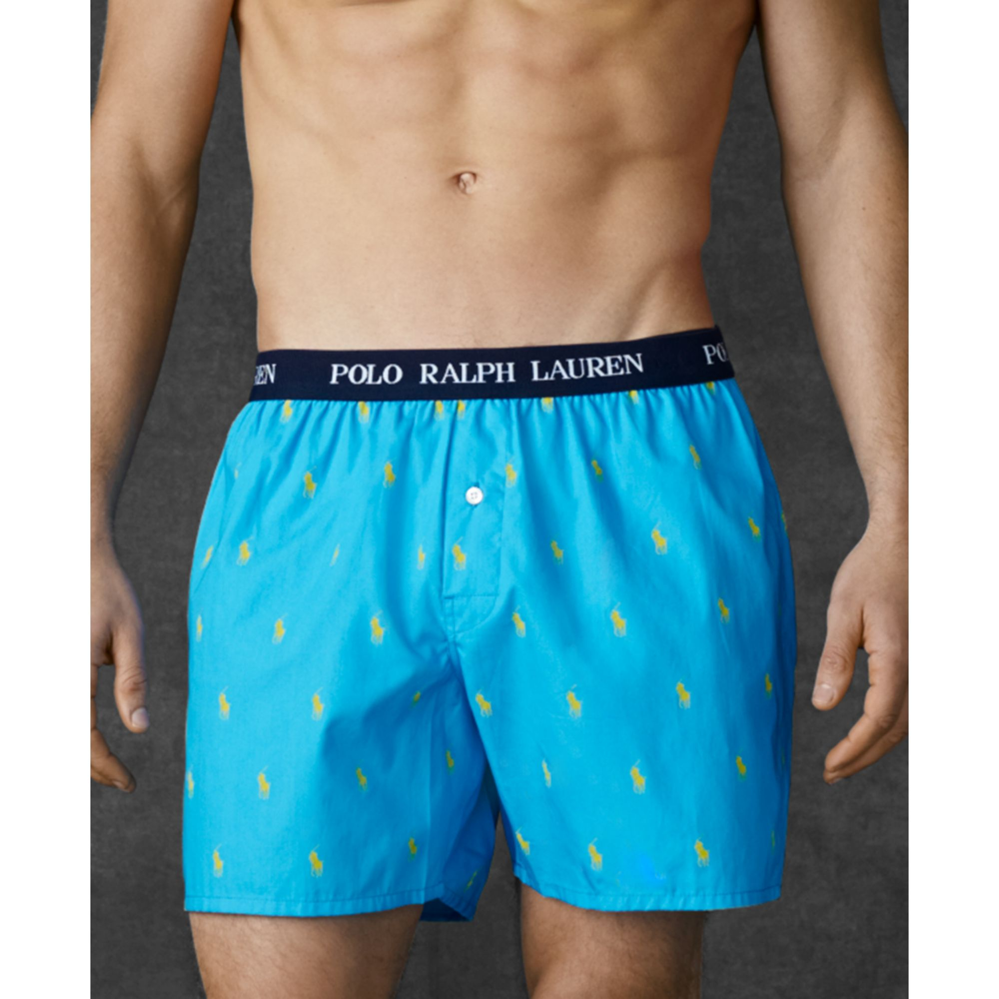 e7db4c417f50 Lyst - Ralph Lauren Polo Mens Polo Player Woven Boxers in Blue for Men