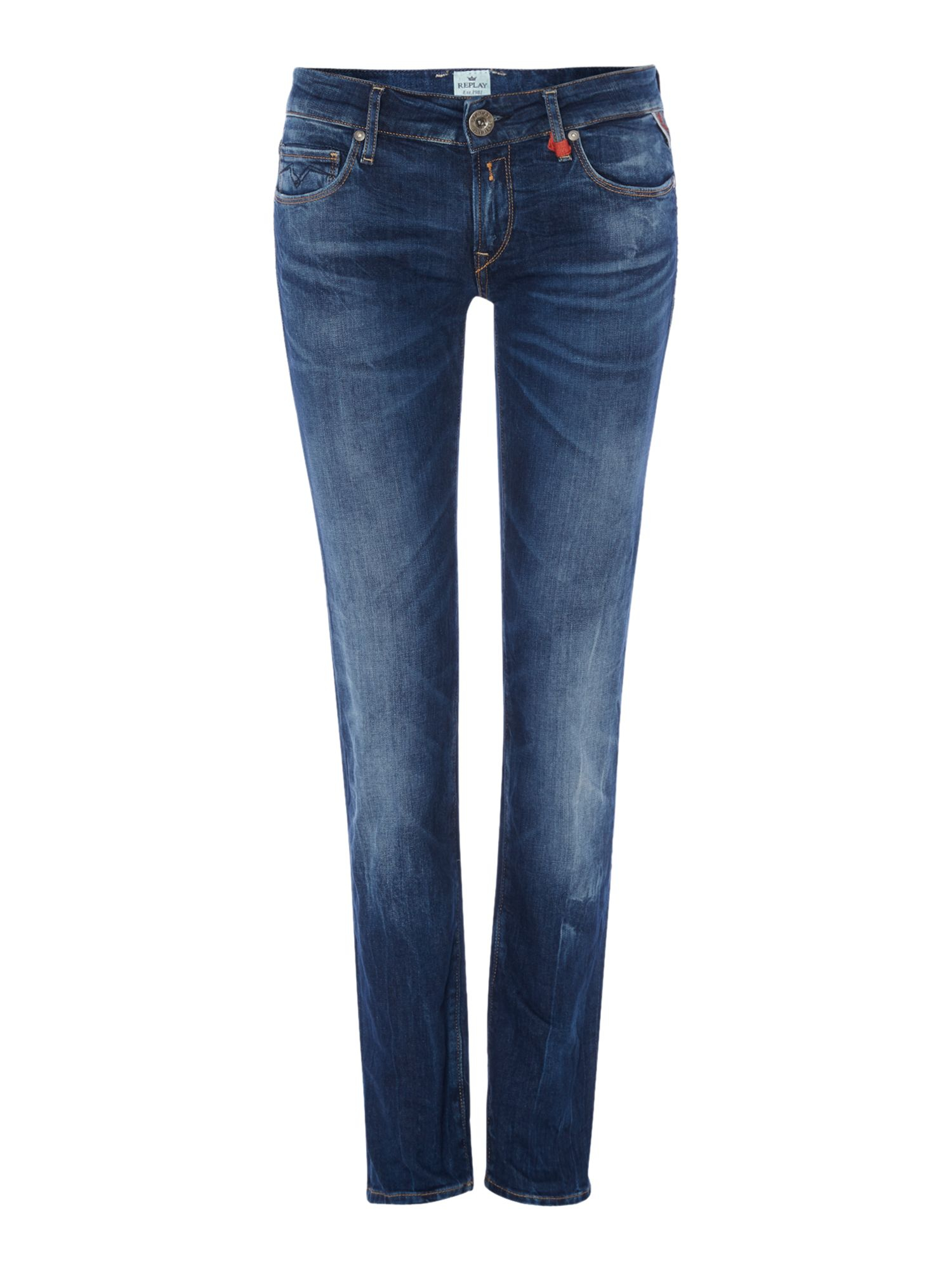 replay rose skinny fit jeans in blue lyst. Black Bedroom Furniture Sets. Home Design Ideas