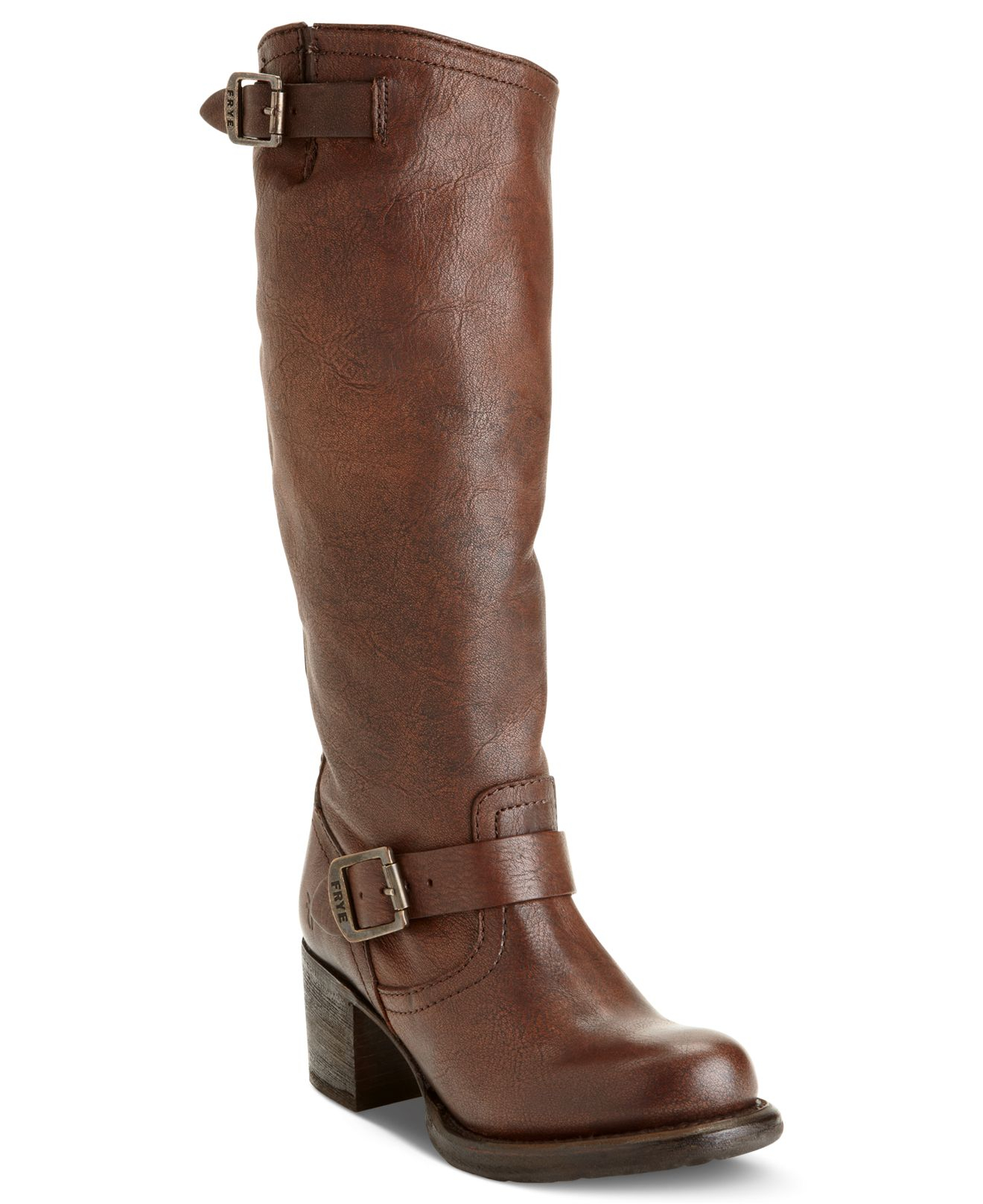 frye s vera slouch boots in brown maple lyst