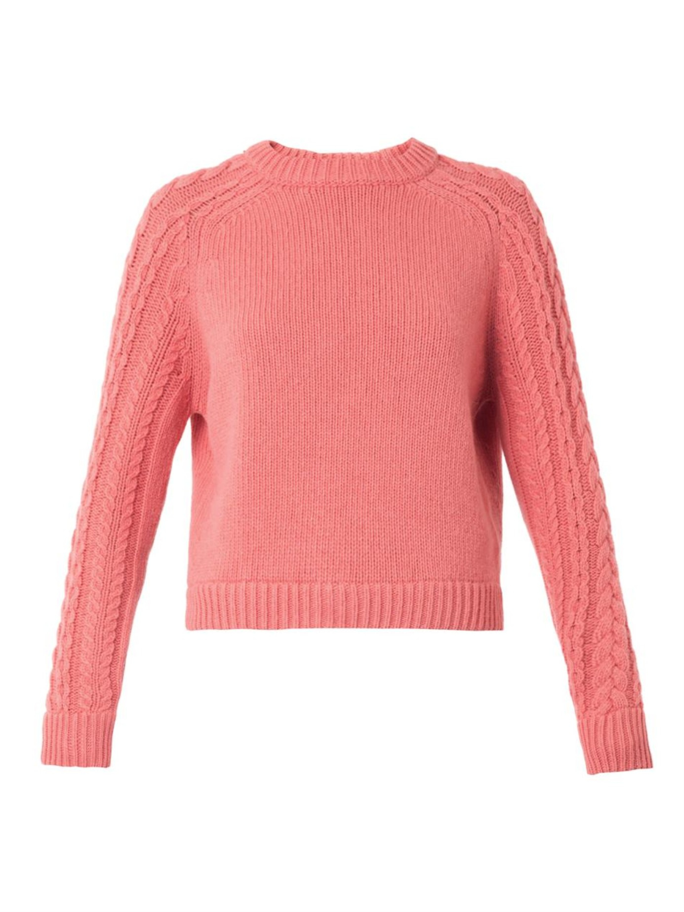 3e18d16c1135 Wedges 5cm Pink   - See By Chloe Wool Blend Knit Sweater In Pink ...