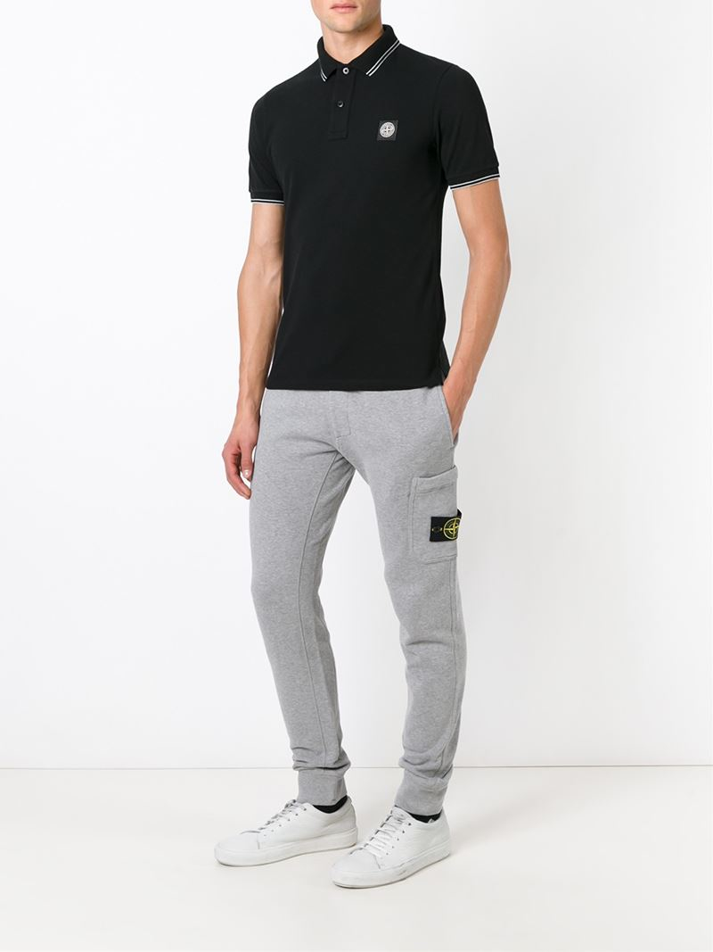Lyst Stone Island Side Pocket Track Pants In Gray For Men