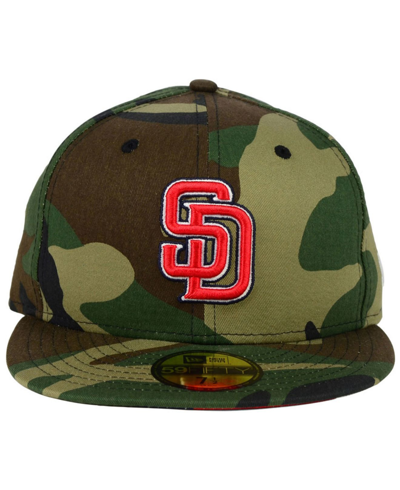 358a4fcbc7e ... spain lyst ktz san diego padres under woodland 59fifty cap in green for  men 822ff ca27c