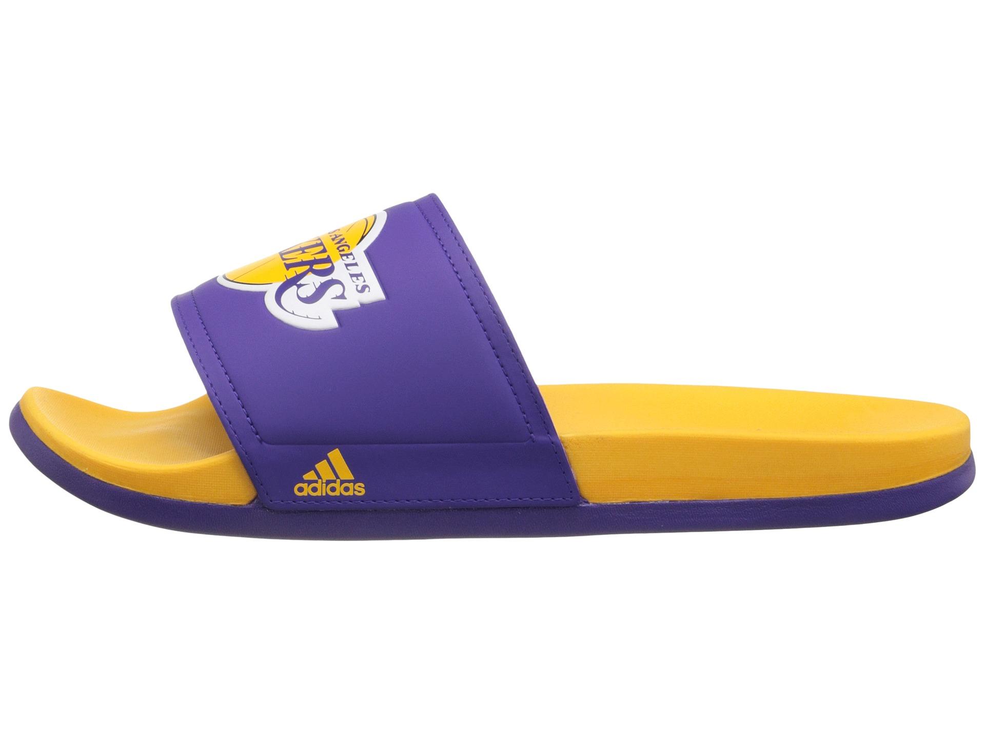 4e522732be7 Lyst - adidas Adilette - La Lakers in Purple for Men