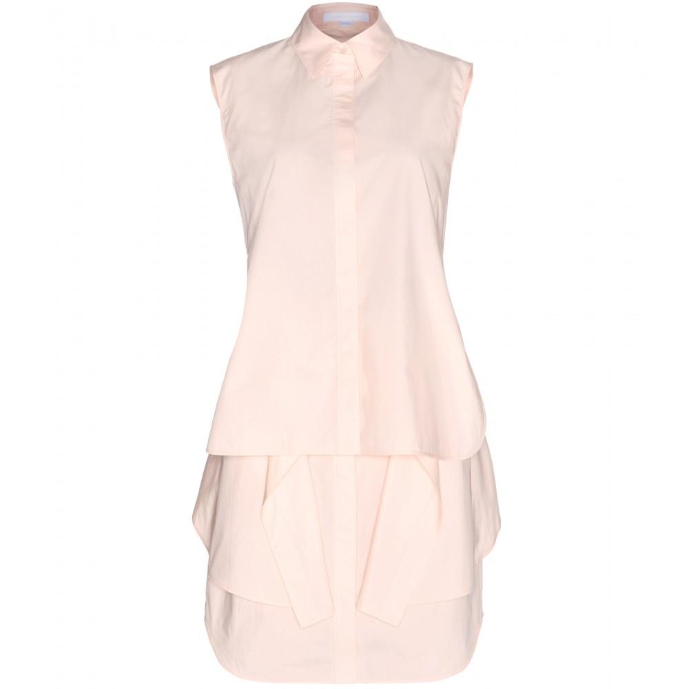 Lyst alexander wang layered cotton shirt dress in pink for Alexander wang wedding dresses