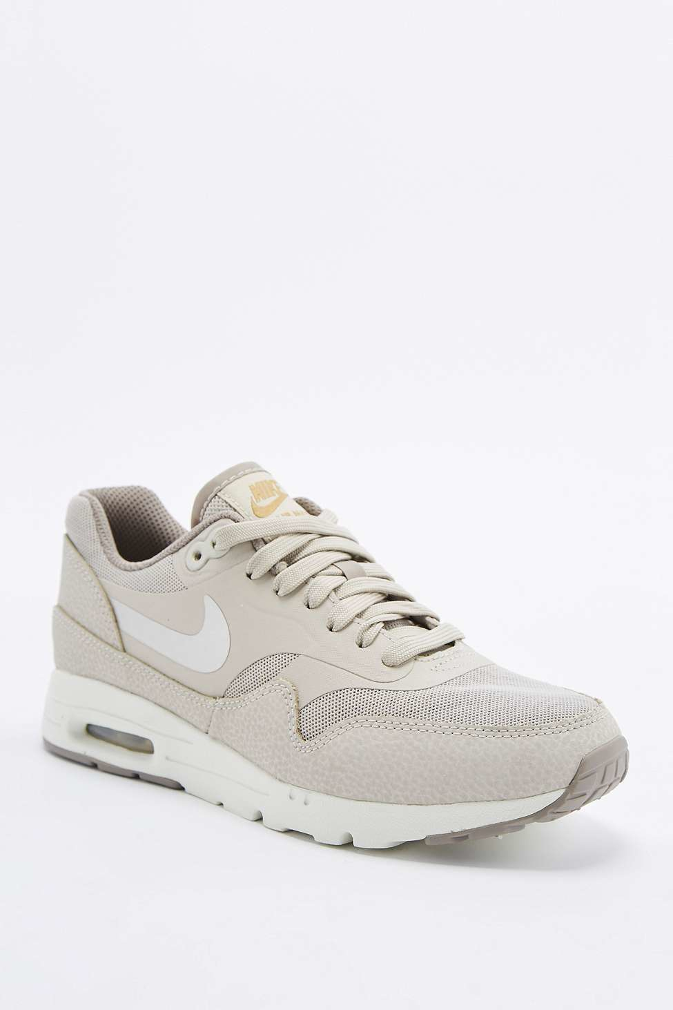 nike air max 1 essential beige trainers in natural lyst. Black Bedroom Furniture Sets. Home Design Ideas
