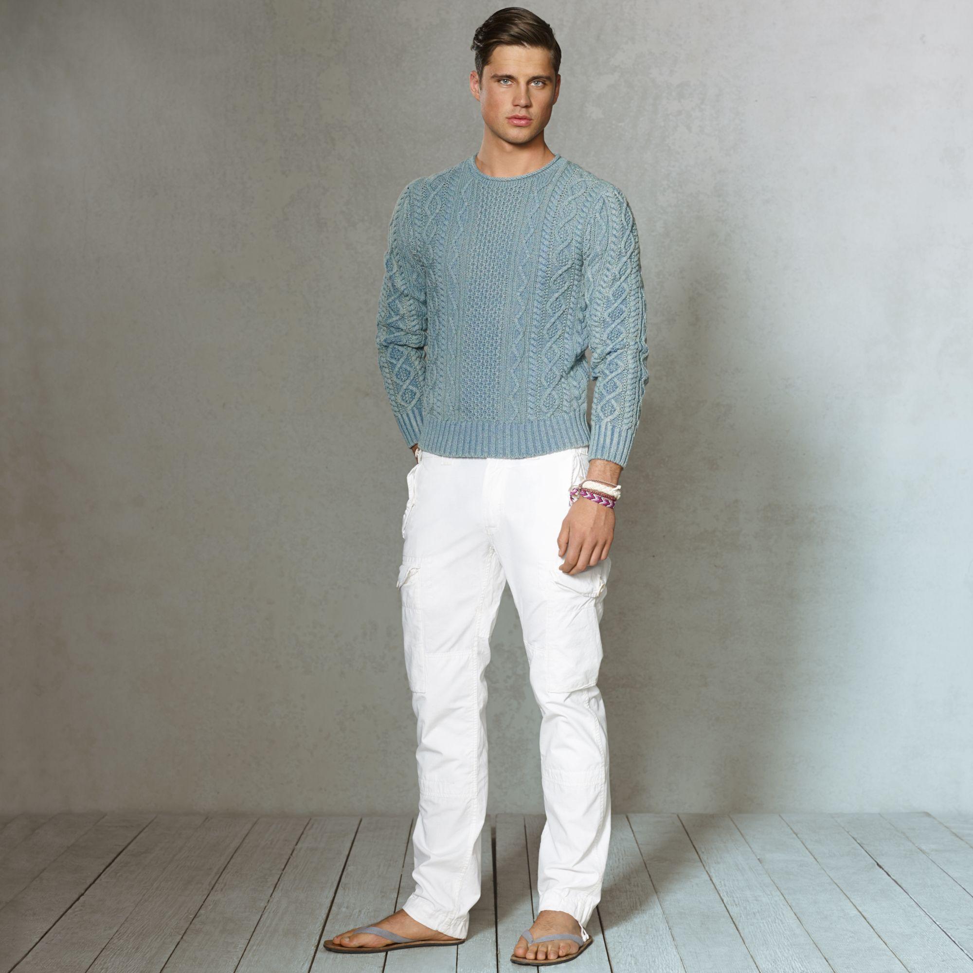 Lauren Straight Pant Polo Cargo Ripstop White Ralph For Men v80nmwNO
