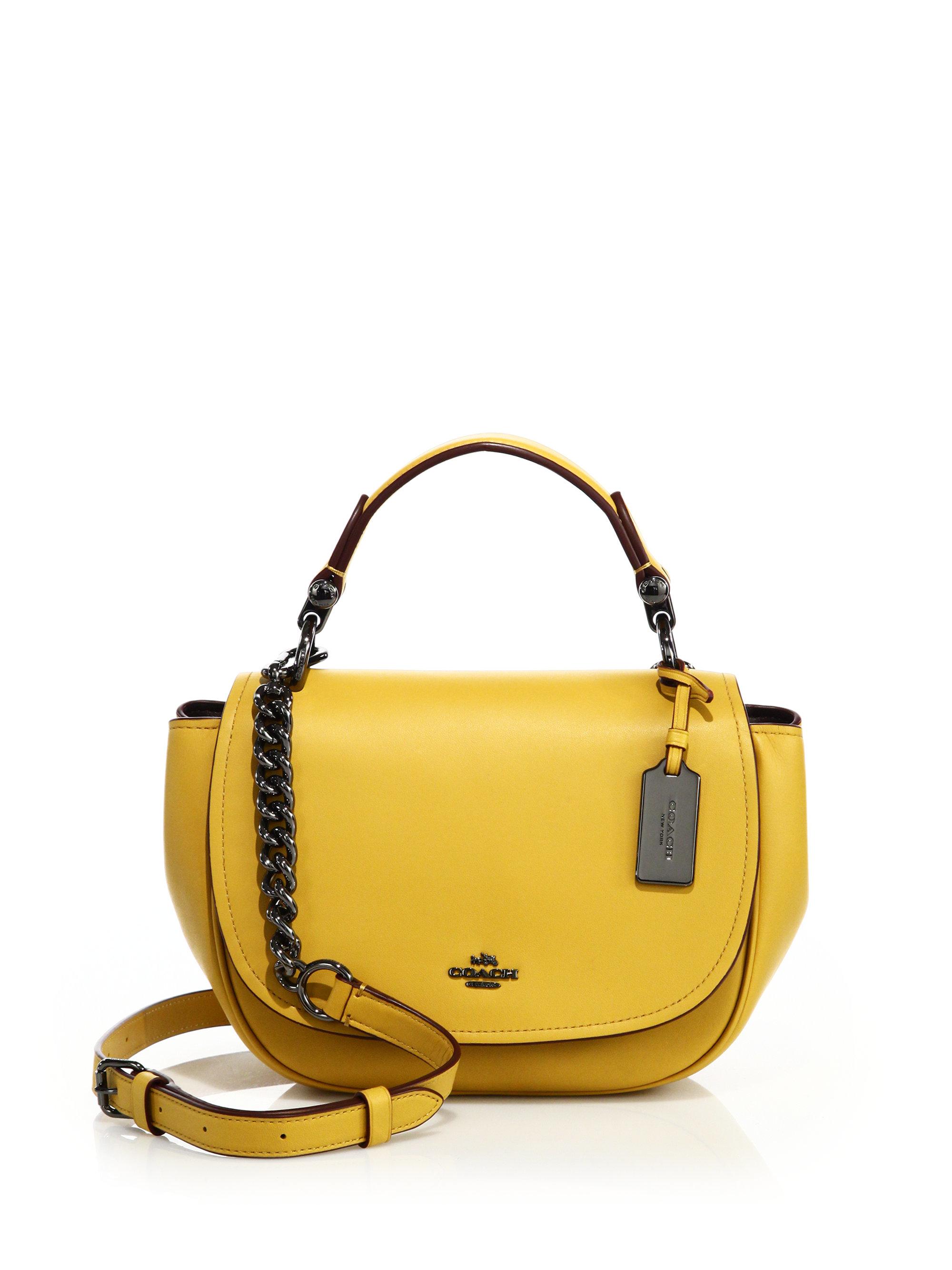 38fcc1820131f ... denmark lyst coach nomad leather crossbody bag in yellow 130ba a6fd6