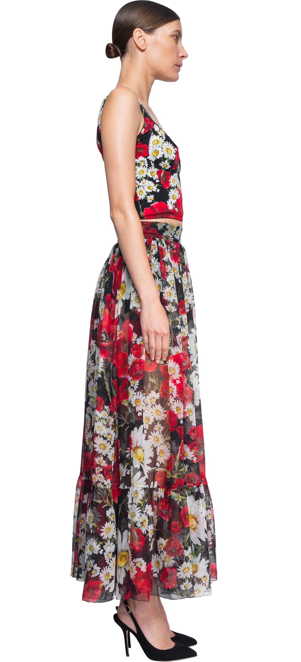 9252fc382f Lyst - Dolce   Gabbana Floral Crop Top