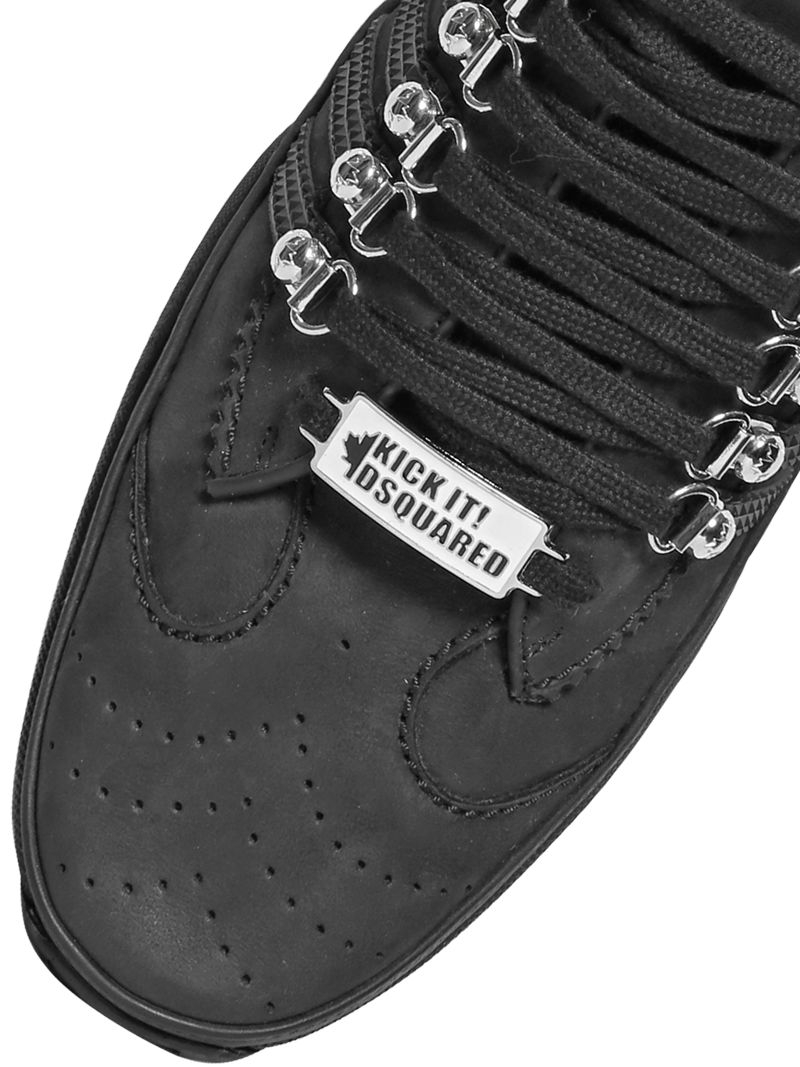 DSquared² Striped Nubuck Sneakers in Black