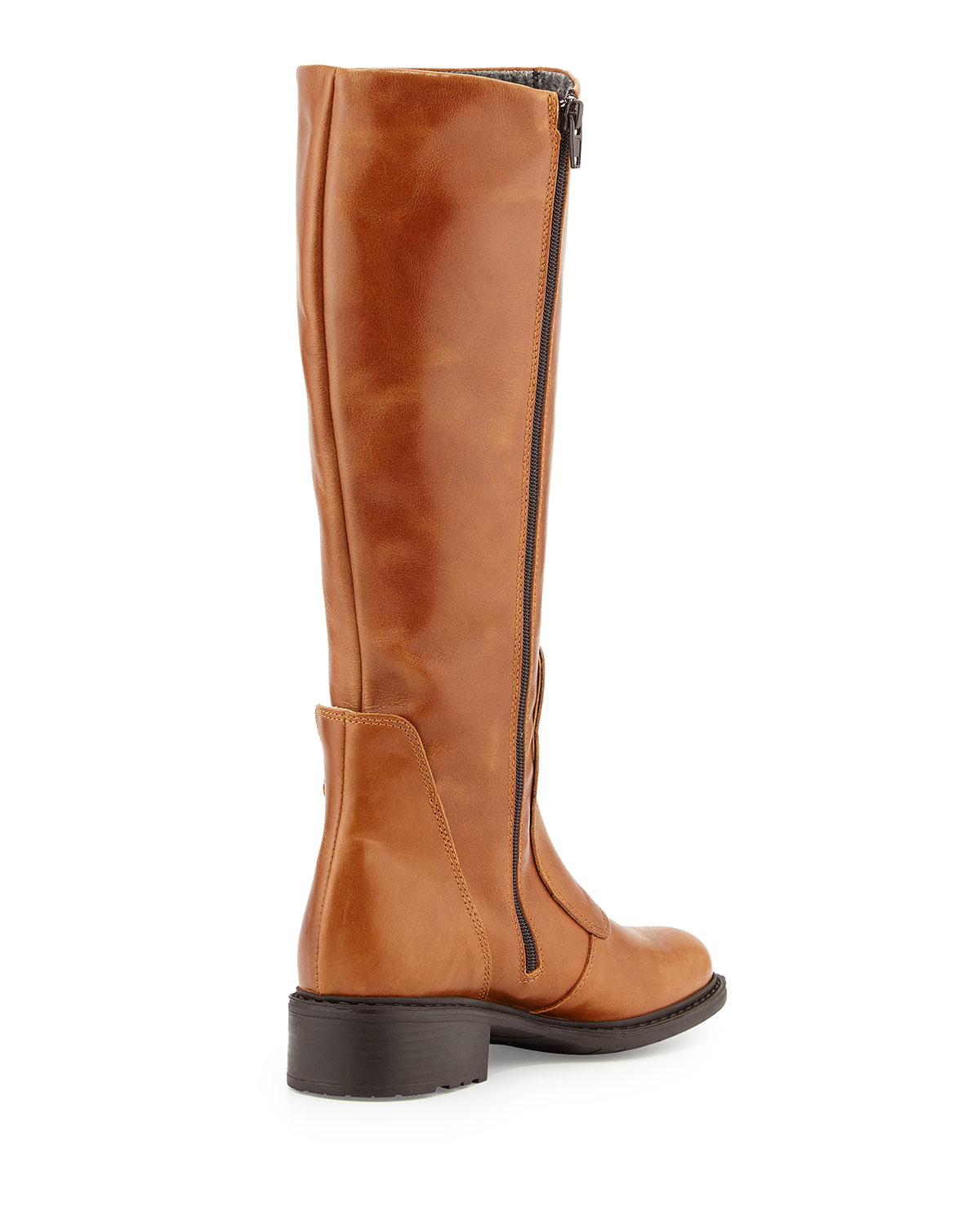 charles david perina buckle leather knee boot in brown lyst