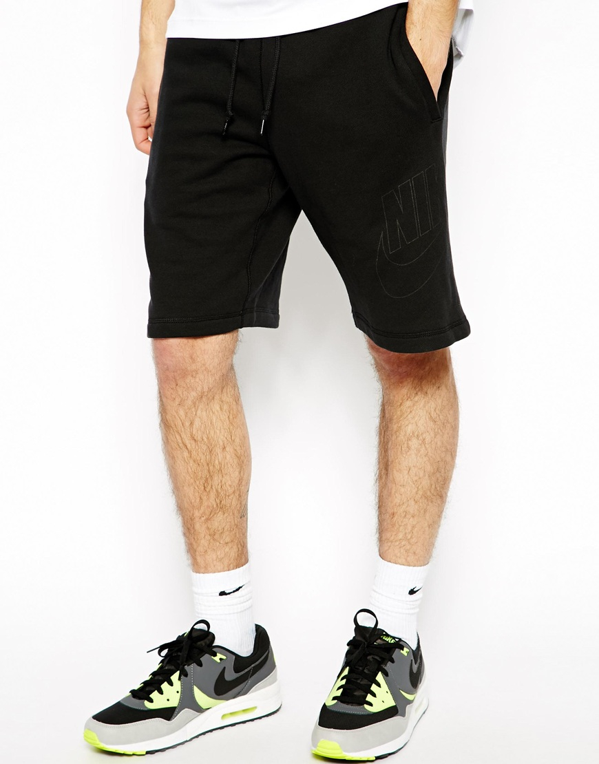 vans old skool navy - nike sweat shorts with swoosh logo - Modern Landlord