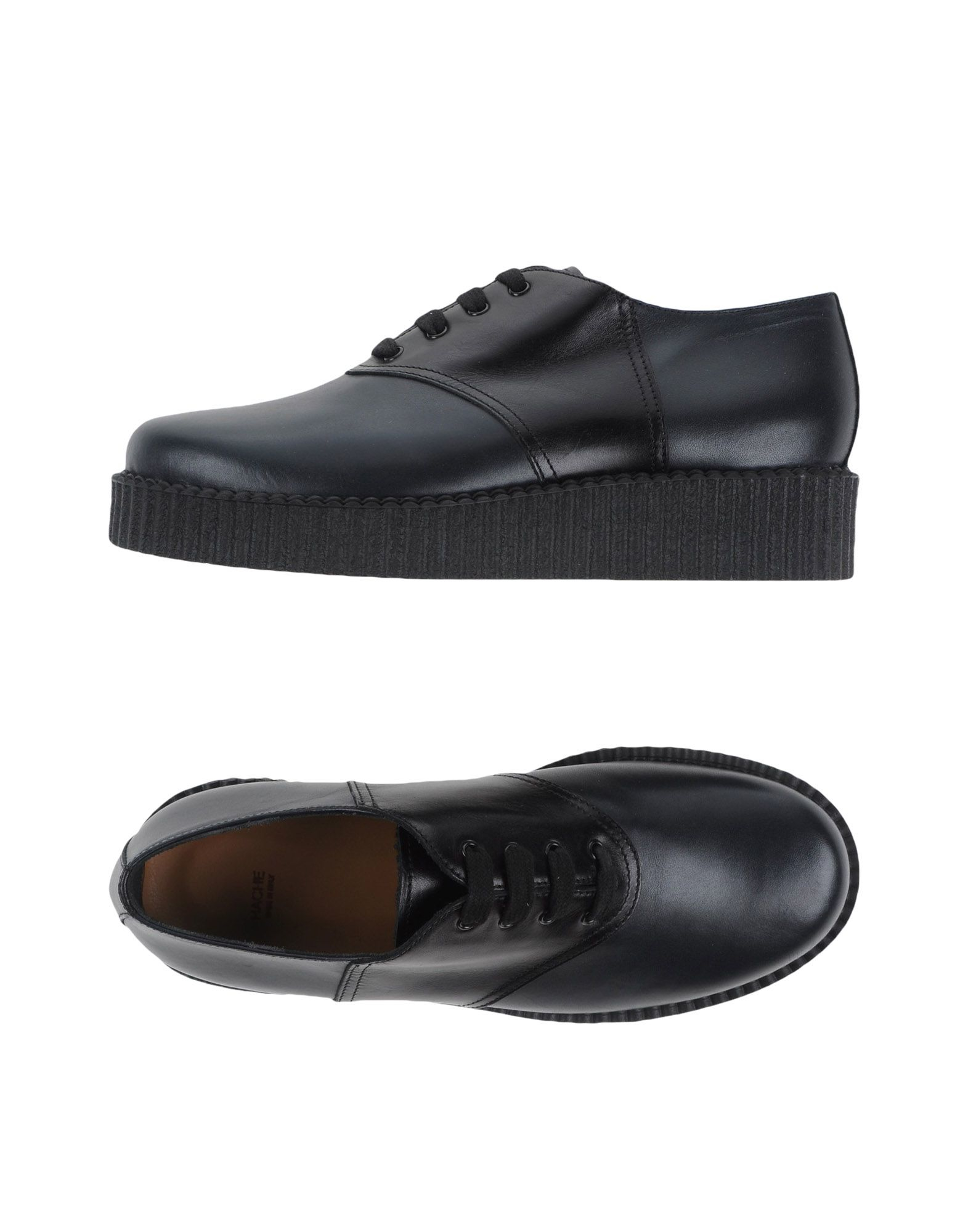 hache lace up leather shoes in black for lyst