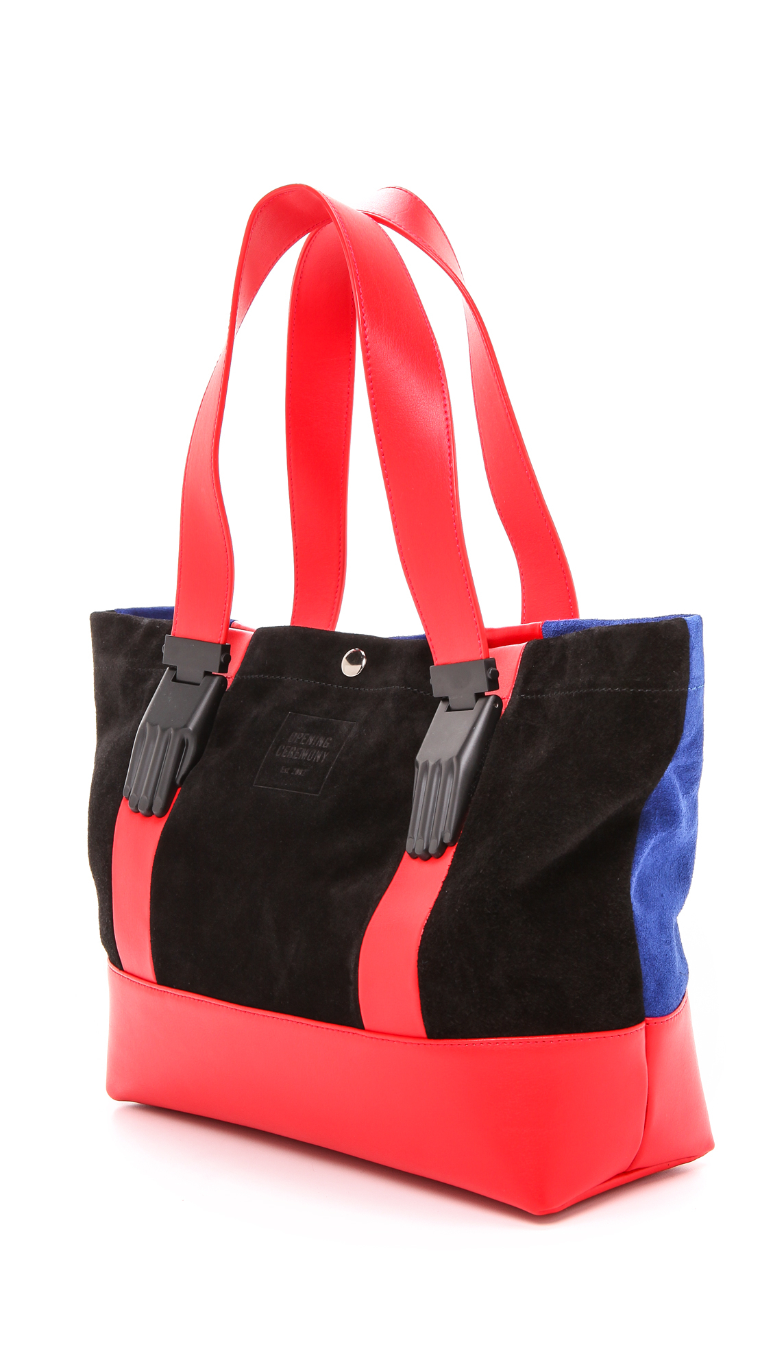 Opening Ceremony Millie Small Tote - Cobalt Multi in Red