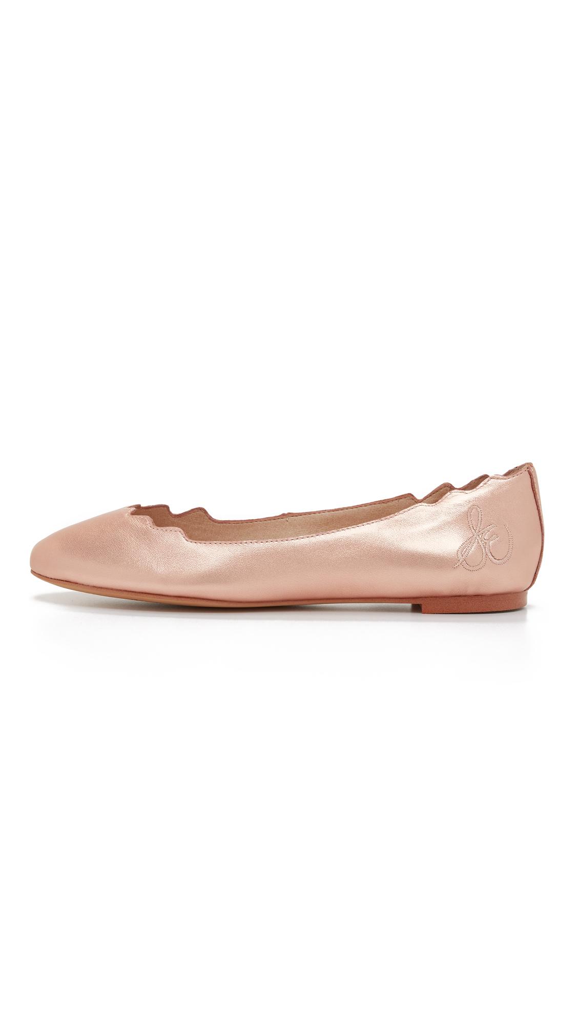49810af974f15 Sam Edelman Augusta Scalloped Ballet Flats in Pink - Lyst