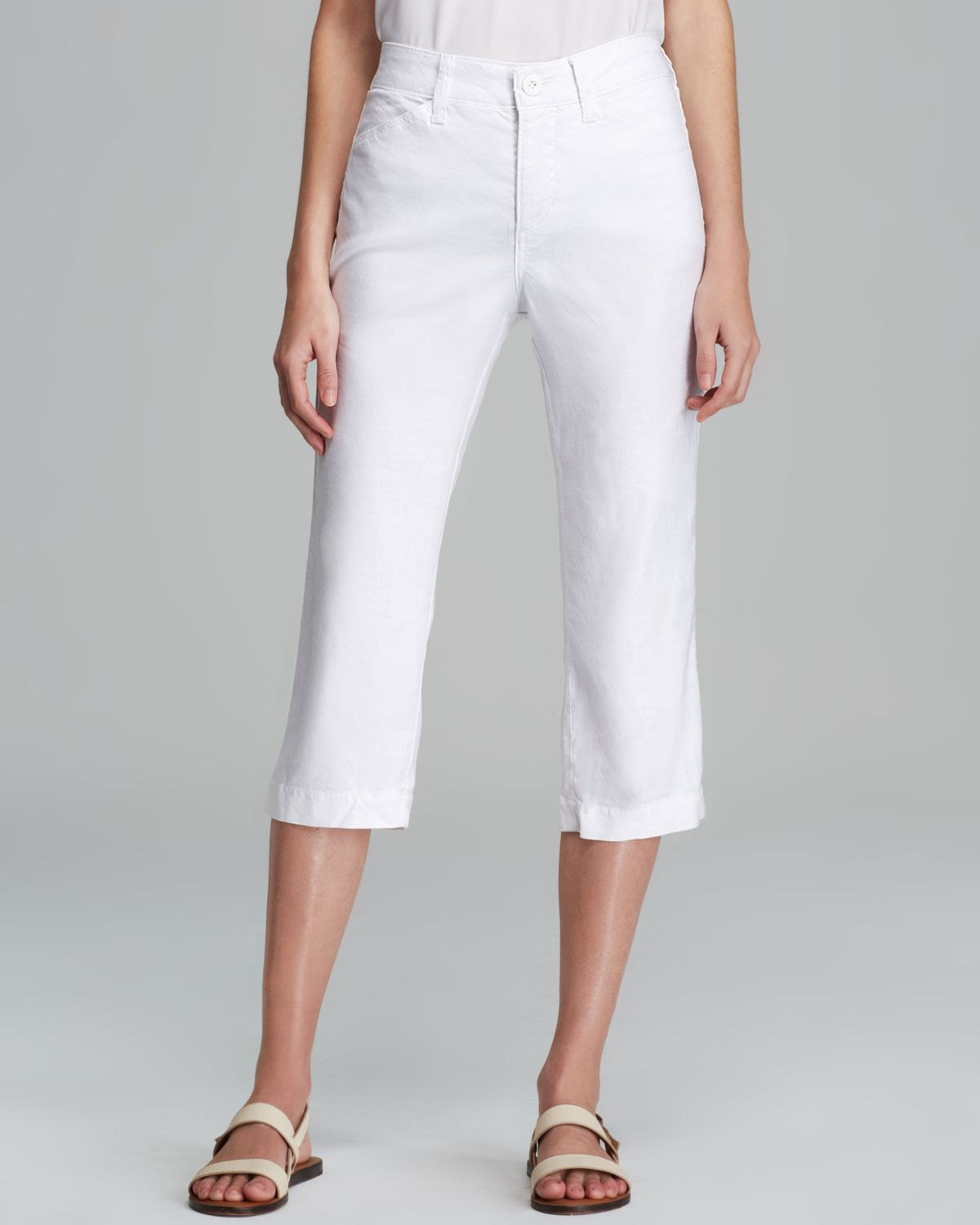 cropped white pants - Pi Pants