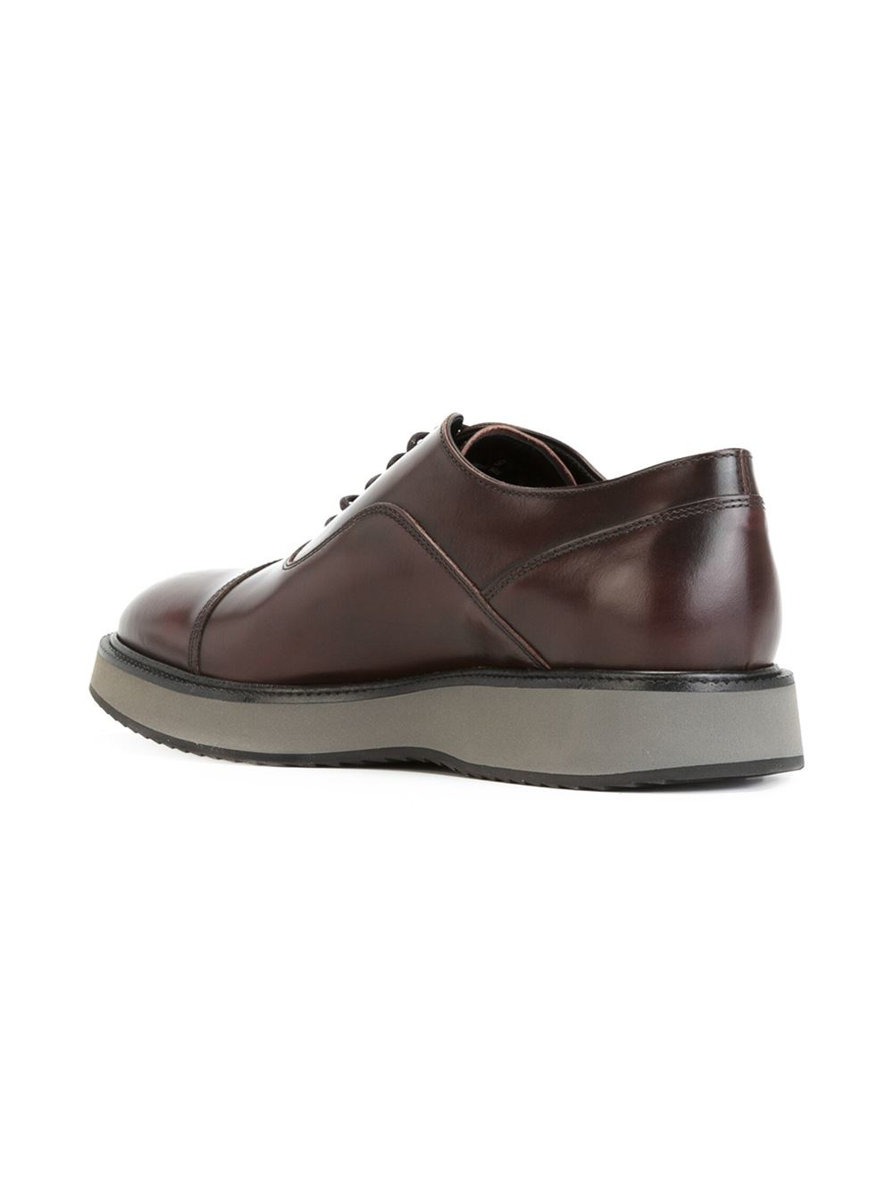 Lyst - Hogan Classic Oxford Shoes In Red For Men