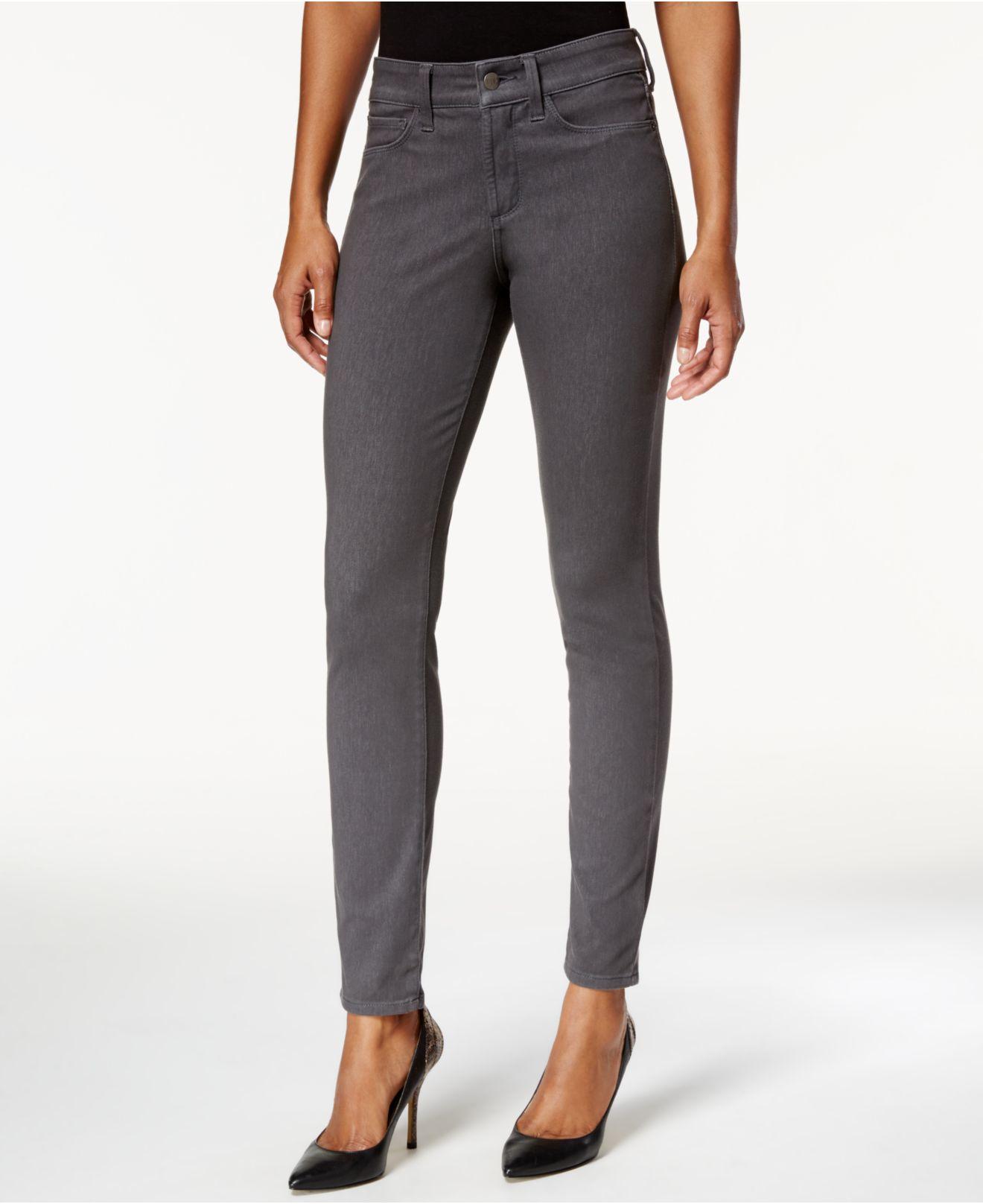 nydj alina skinny aubergine wash jeans in gray dark. Black Bedroom Furniture Sets. Home Design Ideas