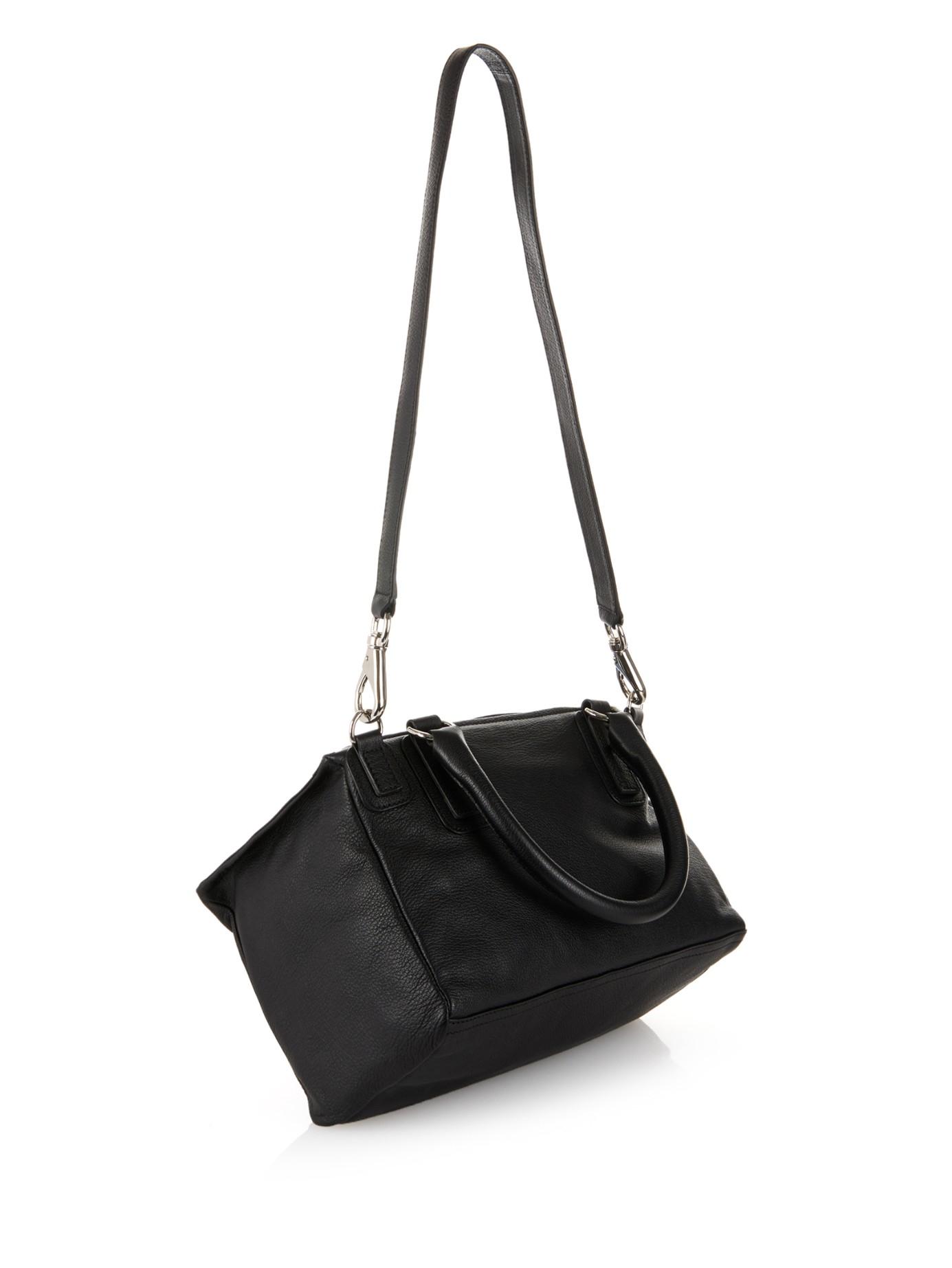 dbda6380bd Givenchy Pandora Medium Sugar-leather Bag in Black - Lyst