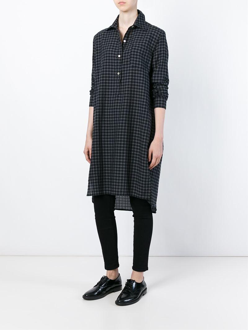 Lyst toile isabel marant 39 rane 39 shirt dress in black for Isabel marant shirt dress
