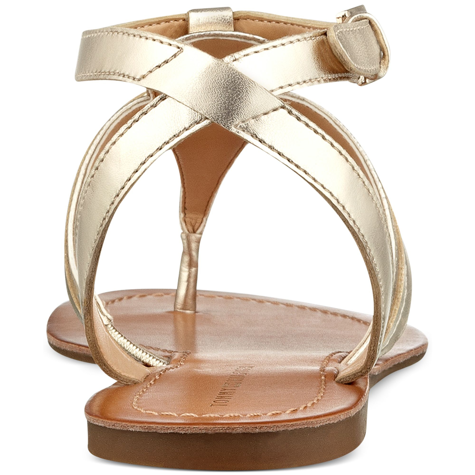 d1f5a7df9 Lyst - Tommy Hilfiger Womens Lorine Flat Thong Sandals in Metallic