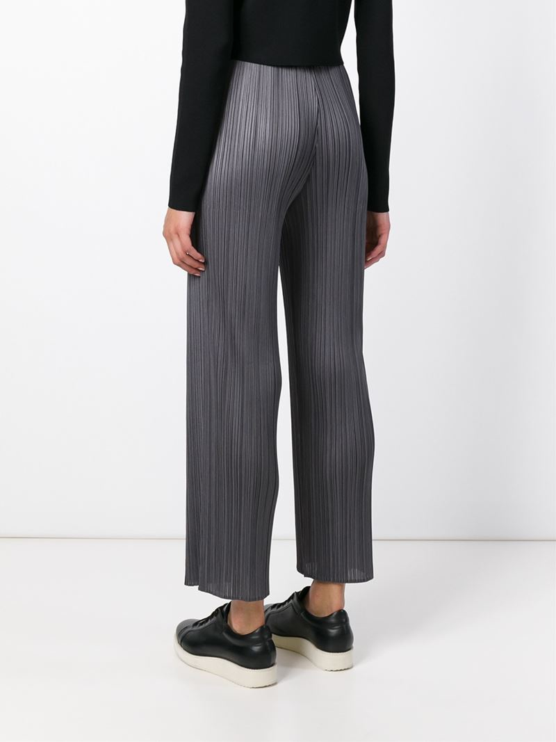 3dfddedfc97c8 Lyst - Pleats Please Issey Miyake Straight Pleated Pants in Gray