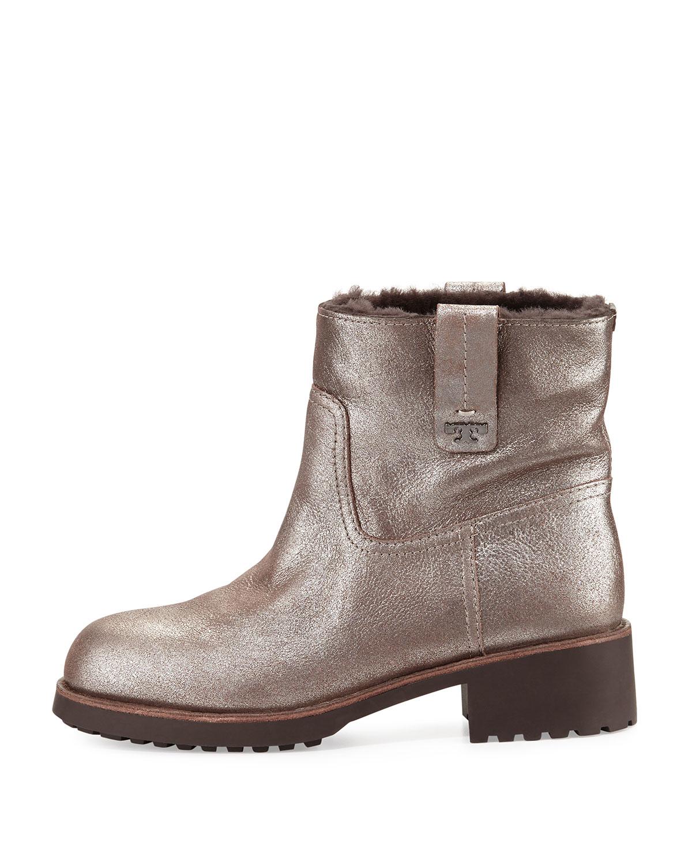 eca9e11a7ed53 Lyst - Tory Burch Wayland Fur-lined Boot in Metallic