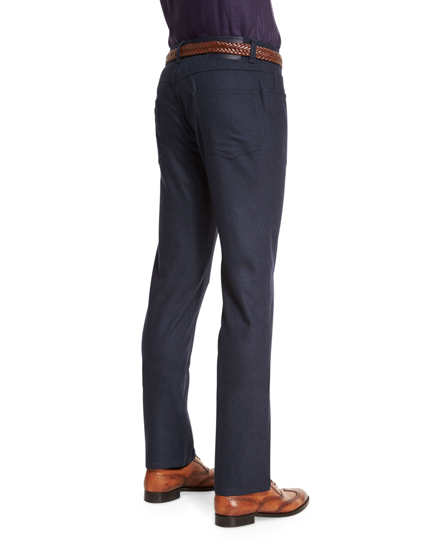 Brioni Wool Blend Five Pockets Pants In Black For Men Lyst
