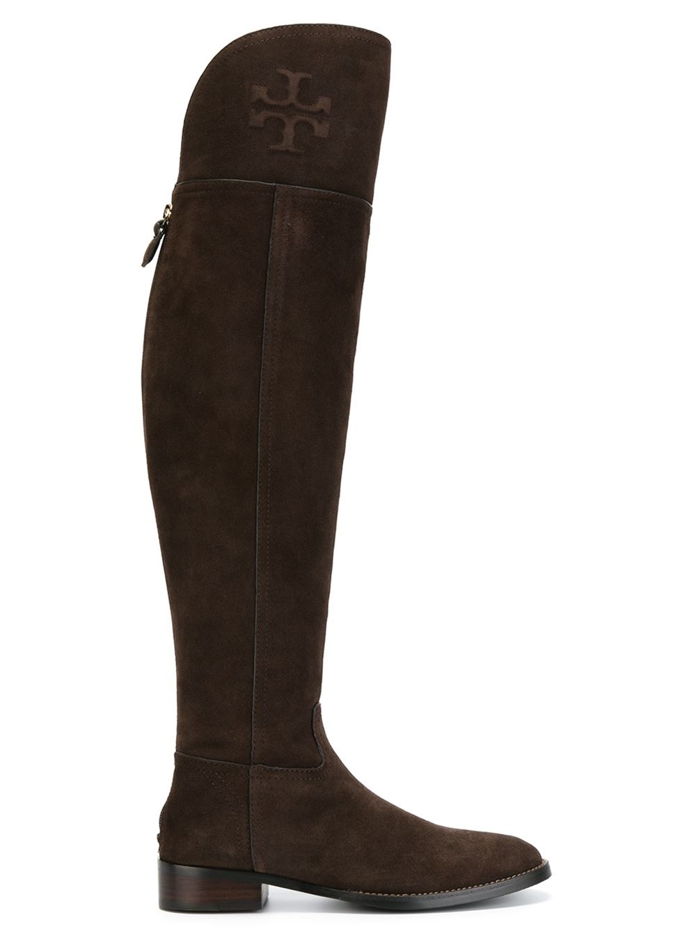 burch thigh high boots in brown lyst