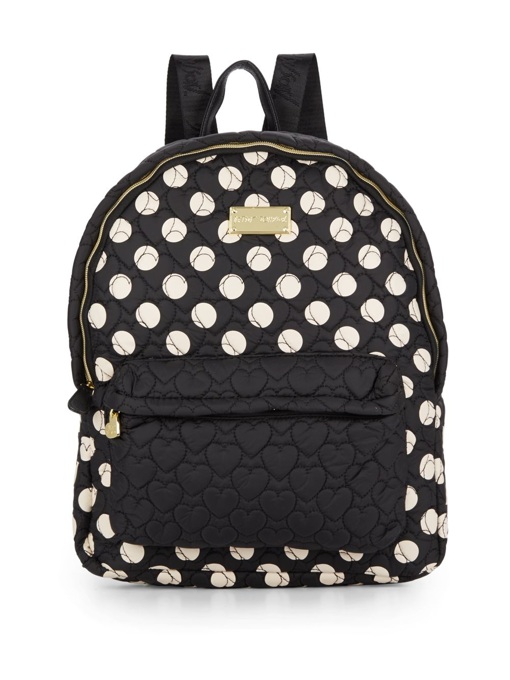 Betsey Johnson Tie The Knot Polka Dot Backpack In Black Lyst