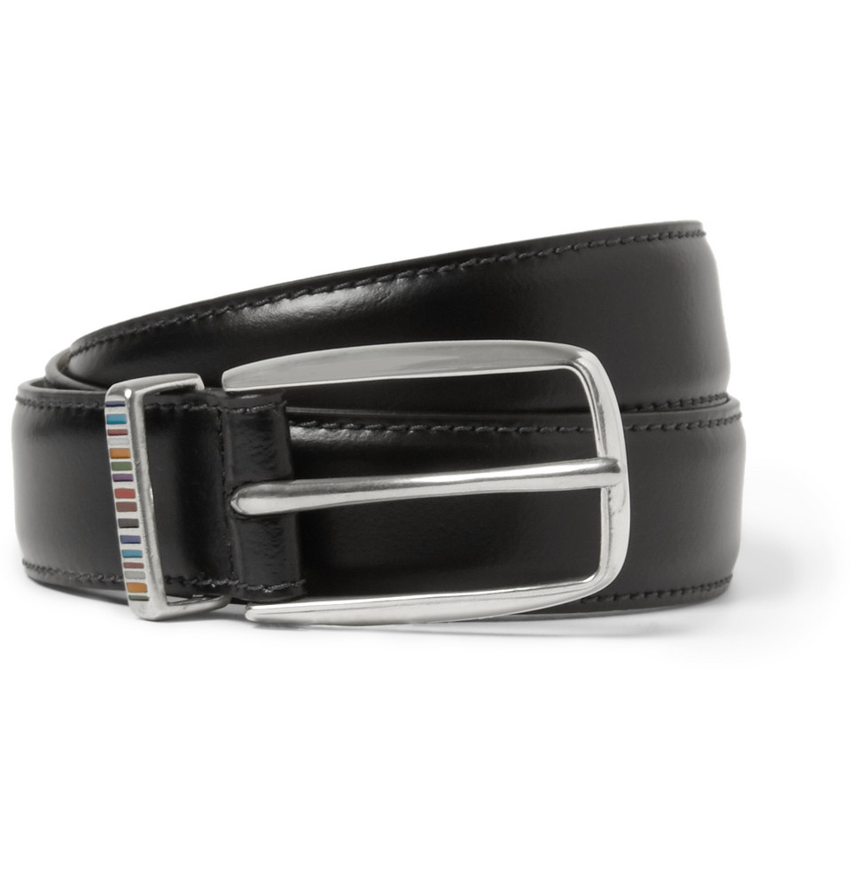 paul smith brown 3cm leather belt in black for lyst