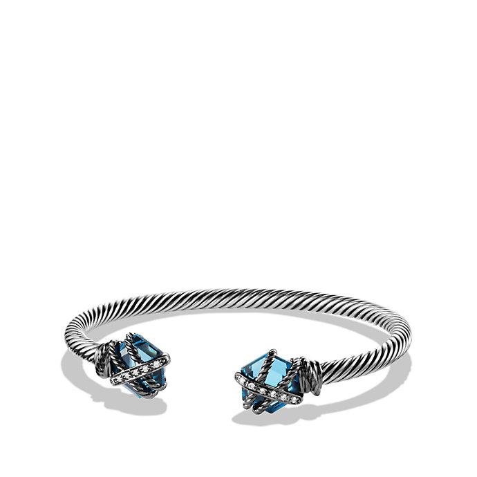 David Yurman Cable Wrap Bracelet In Blue Lyst