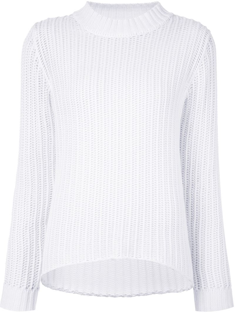 Frame Loose Knit Sweater in White | Lyst