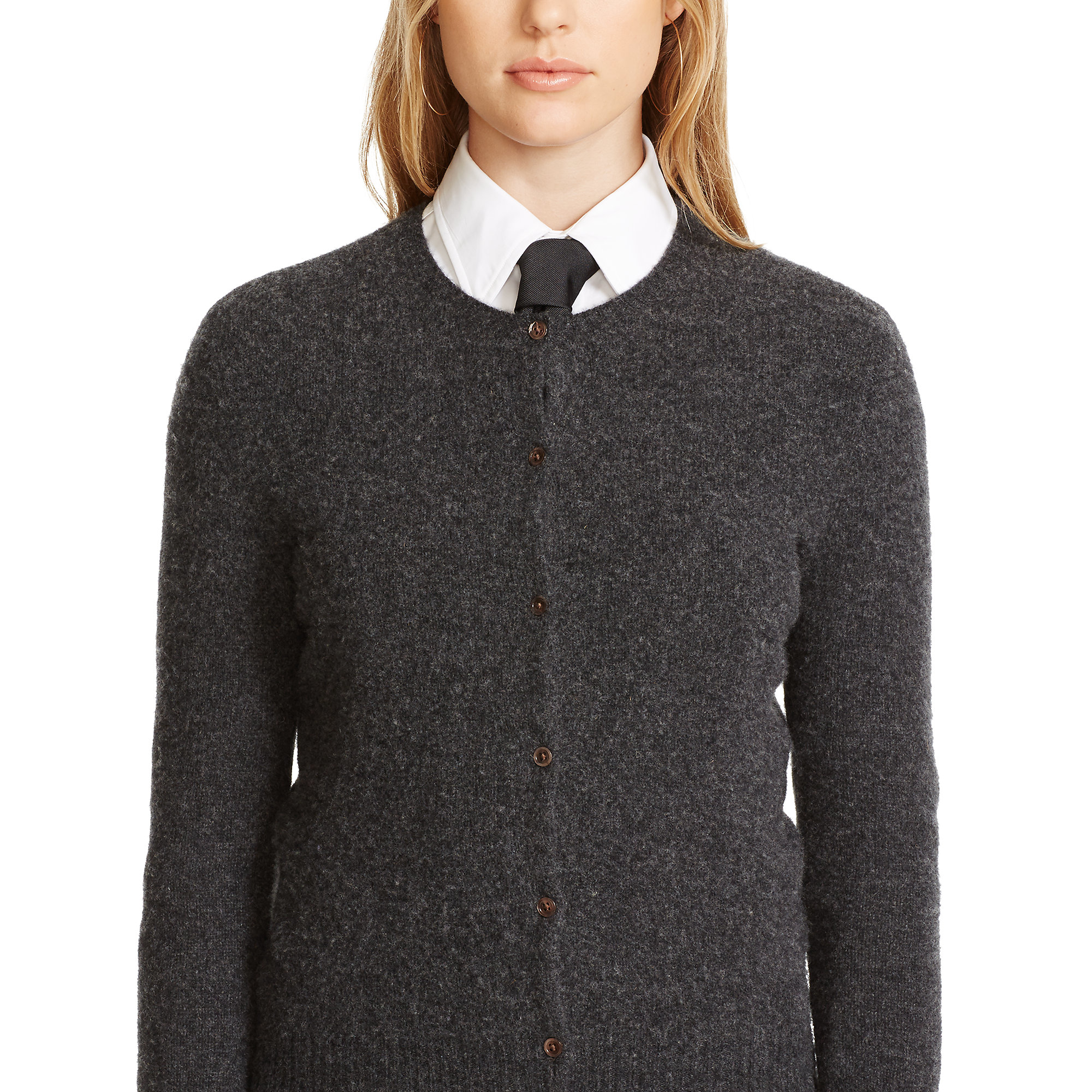 e1bf1bf20 Polo Ralph Lauren Wool-cashmere Cardigan in Gray - Lyst