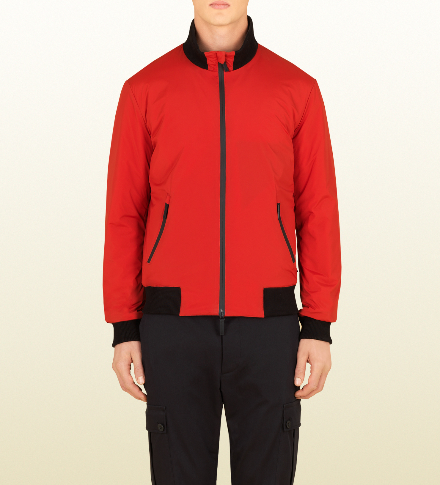 61c32bc9a Gucci Mens Red Nylon Padded Jacket From Viaggio Collection for men