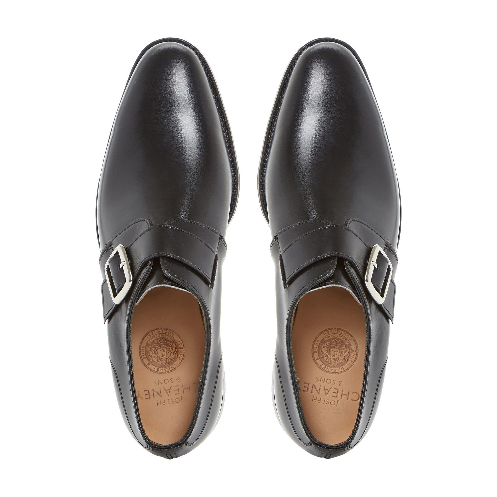 Black Shoes Monk Strap