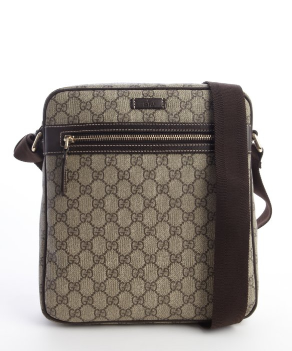 Mens leather gloves boss - Gucci Brown Gg Plus Canvas Medium Messenger Bag In Brown For Men