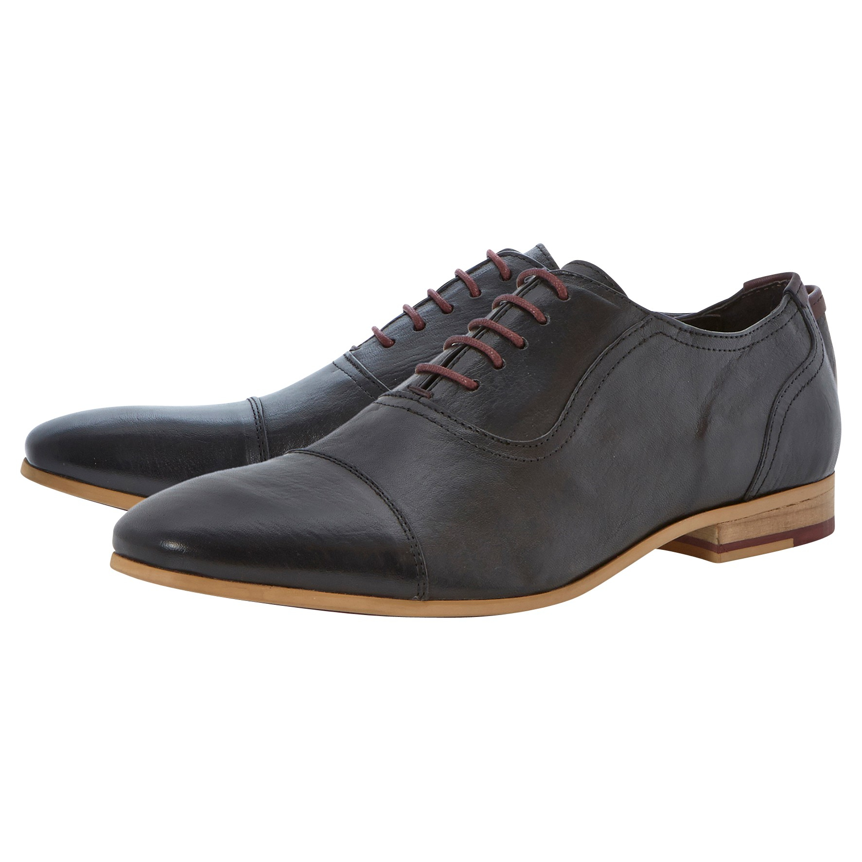 Bertie Radios Oxford Lace Up Shoes in Black for Men